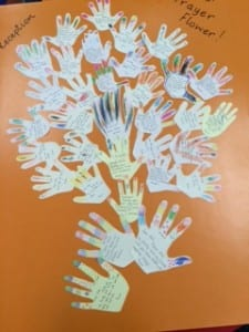 Prayers hands Reception